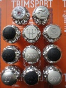 "Image of Trimsport Polished VW Golf Jetta Scirocco Mk1 Mk2 ""Golfball"" Dimpled Gearknob"