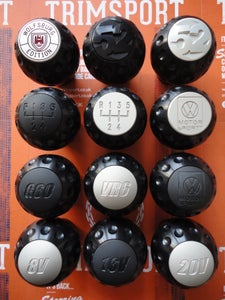"""Image of Trimsport Anodised Black LIMITED EDITION VW Golf Jetta Scirocco Mk1 Mk2 """"Golfball"""" Dimpled Gearknob"""