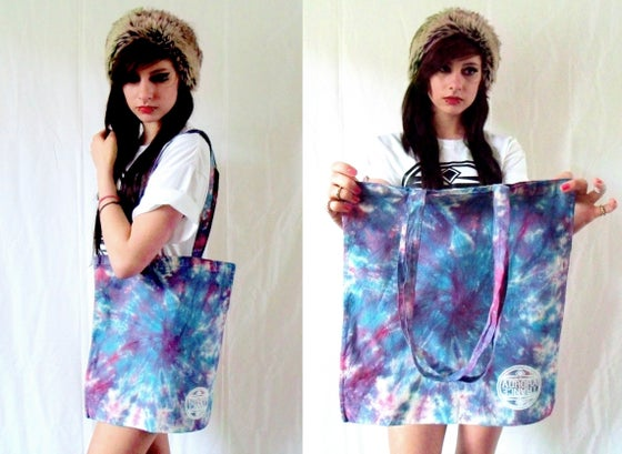 Image of Limited edition blue/ pink spiral tote bag