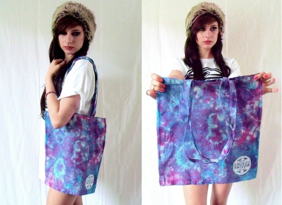 Image of Limited edition blue/pink tie dye tote bags