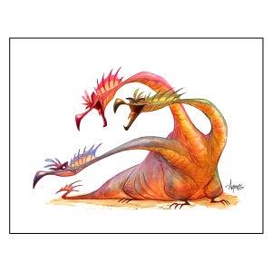 "Image of ""Odd Man Out"" Dragon Print"