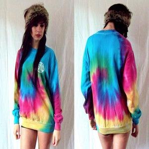 Image of Spiral tie dye sweatshirt
