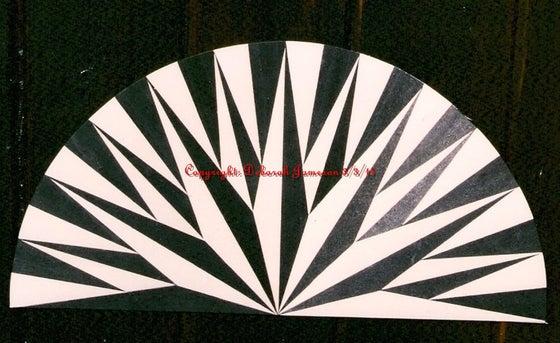 Image of Item No. 119 Black And White Half Starburst Design