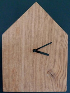 Image of Minimal Oak House Clock