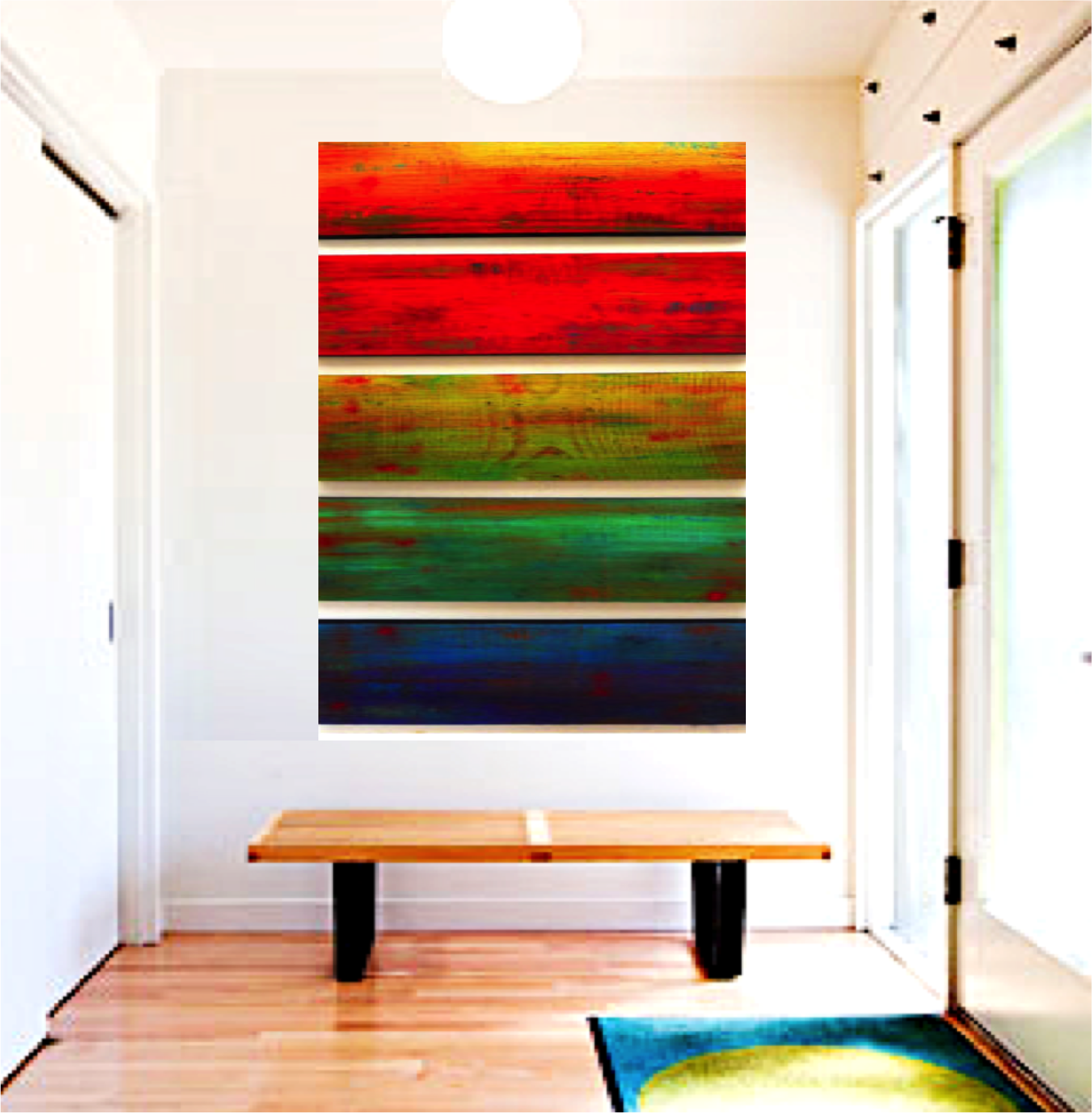 Home rosemary pierce modern art image of ombre wall art original wall sculpture wood wall decor colorful wall amipublicfo Choice Image