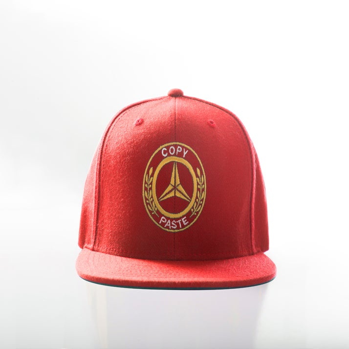 Image of BENZ Logo snapback (RED/GOLD)