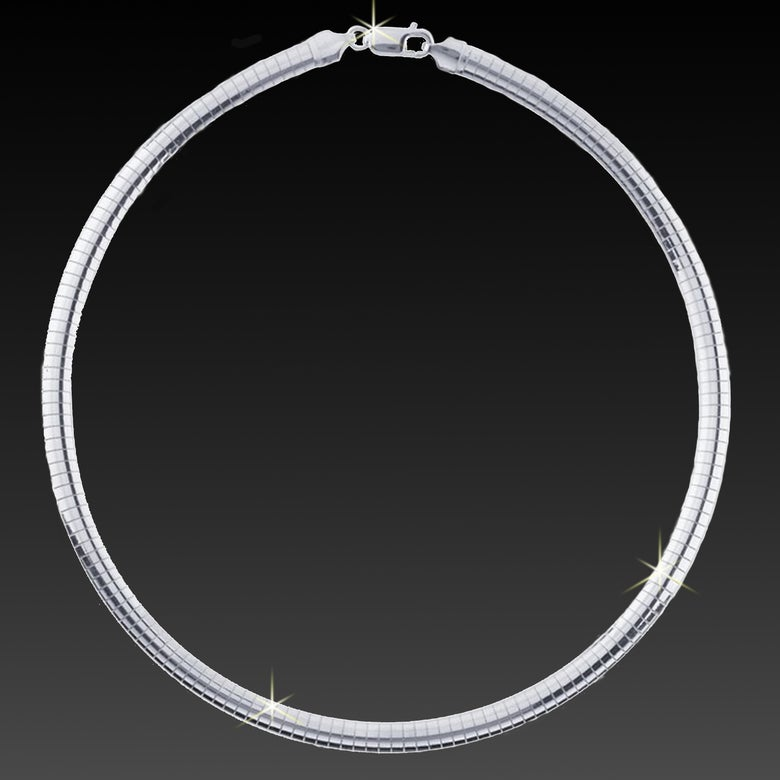 Image of Pure Sterling Silver Omega Necklace - Guaranteed Silver Content