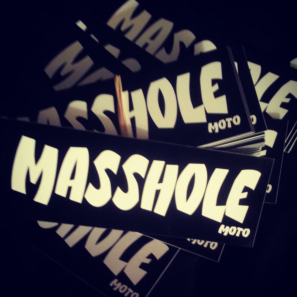 Image of Masshole - Helmet Sticker