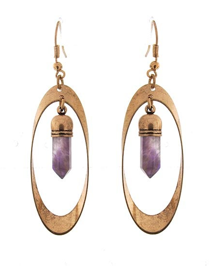 Image of Lavender Stone Earrings