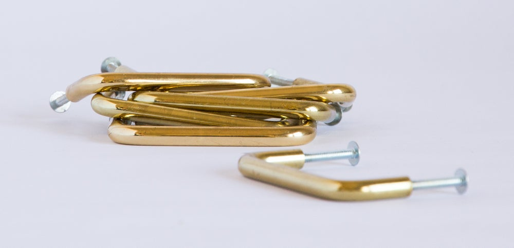 Image of Brass Furniture Handles - D Pulls