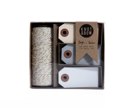 Image of NEW Tag + Twine Box //Gold + Neutral
