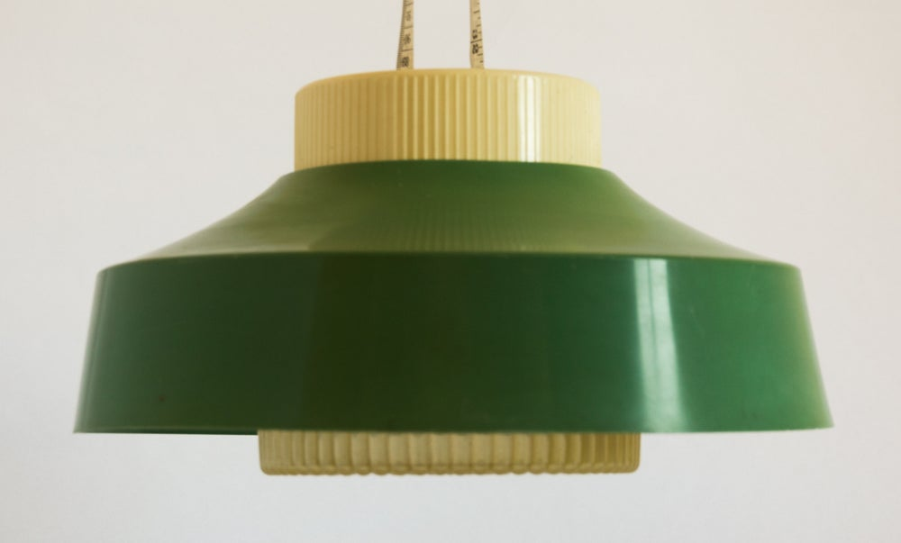 Image of Green 1960s Plastic Light Shade