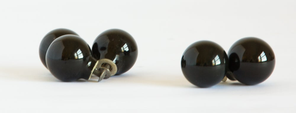 Image of Black Ceramic Furniture Knobs - Small