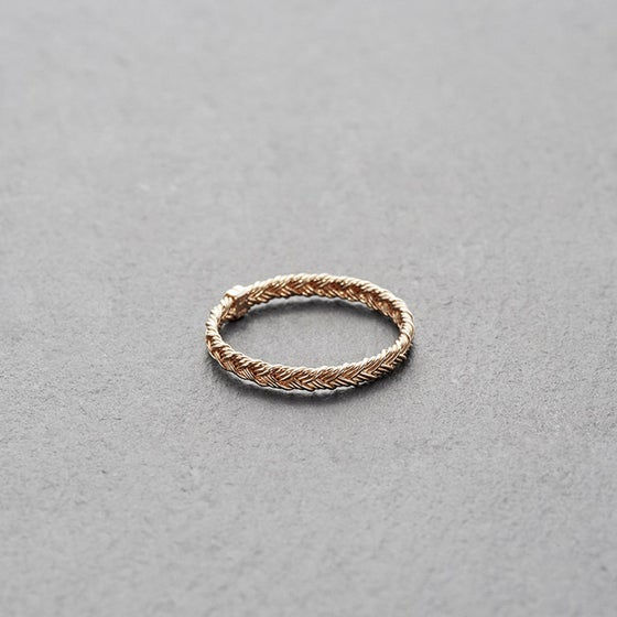 Image of Mount Lavinia Braided Ring Rose Gold