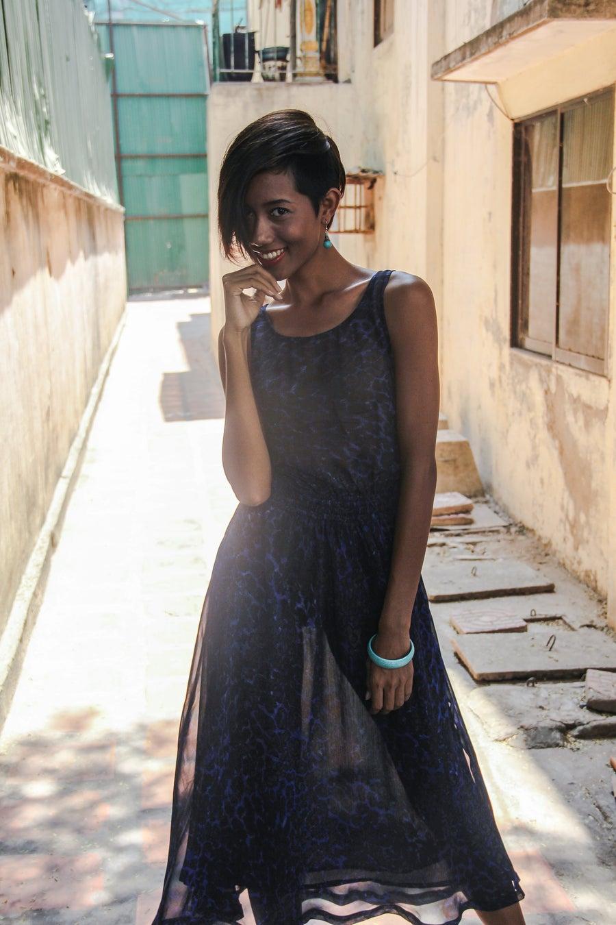 Image of Dress ∞ Blue Leopard