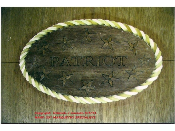Image of Item No. 114.  Rope Banding Design Your Name In Centre.