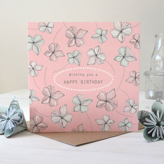 Image of Blossom 'Wishing You A Happy Birthday' Card