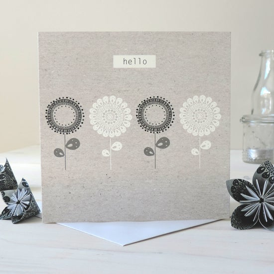 Image of Betsy Folk 'Hello' Card