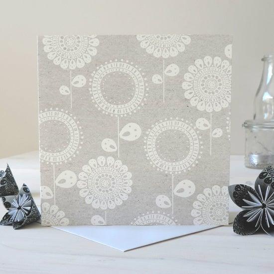 Image of Betsy Folk White Card