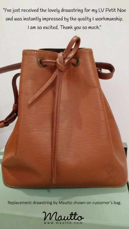 Image of Cinch Cord / Drawstring Replacement for Louis Vuitton (LV) Noe Shoulder Bag or Similar Styles