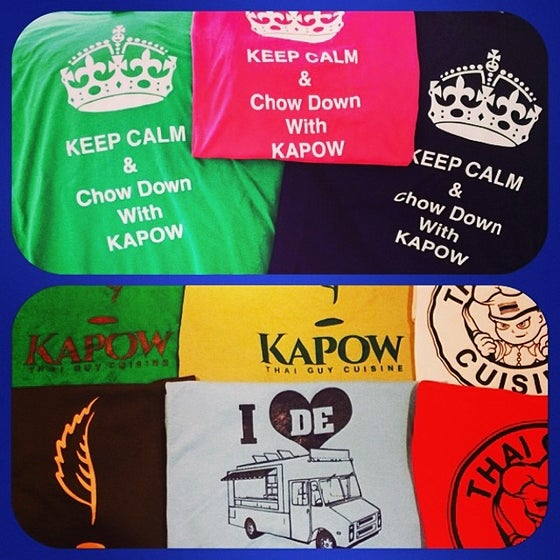 Image of Thai Guy (Red or White) or Keep Calm & Chow Down with Kapow