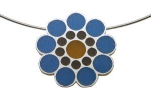 Image of Flourish Pendant - blue