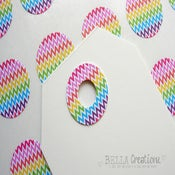 Image of Rainbow Chevron Reinforcement Stickers - FREE SHIPPING