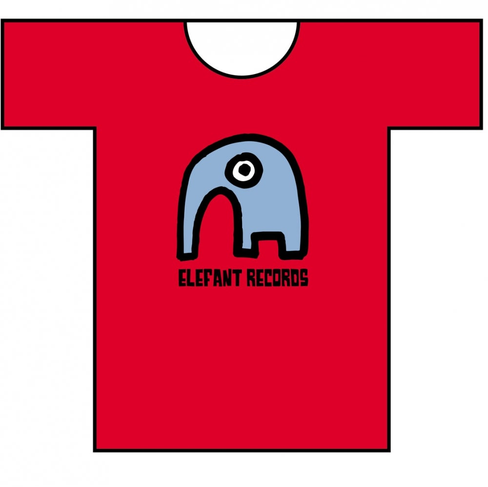 Image of ELEFANT RECORDS T-SHIRT: RED (Various sizes)