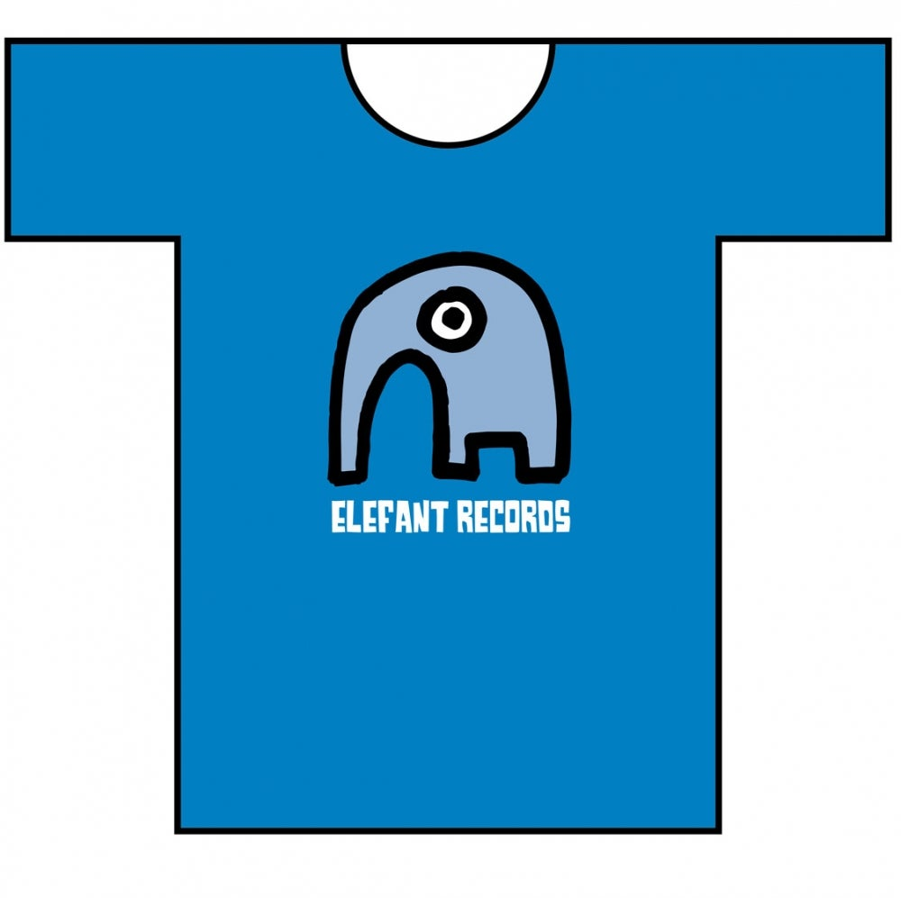 Image of ELEFANT RECORDS T-SHIRT: BLUE (Various sizes)