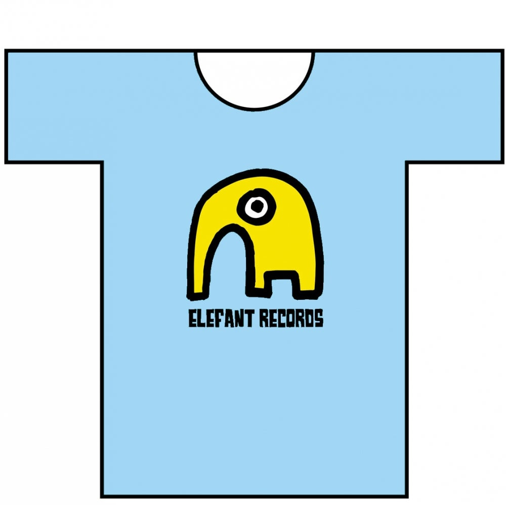 Image of ELEFANT RECORDS T-SHIRT: SKY BLUE (Various sizes)
