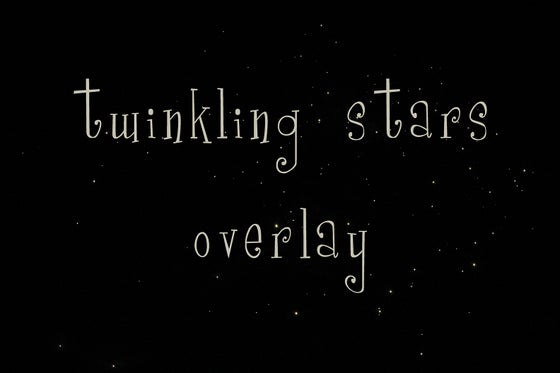 Image of Twinkling Stars Overlay