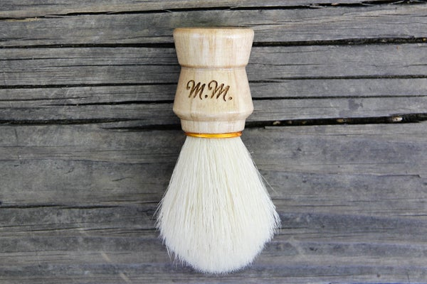 Image of Personalized Men's Wood Shaving Brush - Boar's Hair