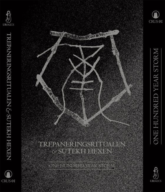 Image of Trepaneringsritualen & Sutekh Hexen - One Hundred Year Storm, Cassette