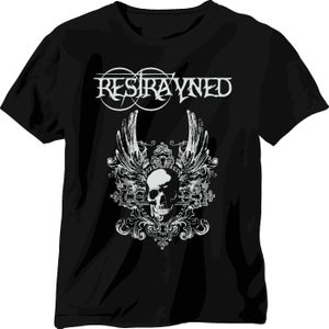 Image of Restrayned - Skull & Wings 2 Logo T-Shirt