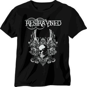 Image of Restrayned - Skull & Wings 2 Logo T-Shirt