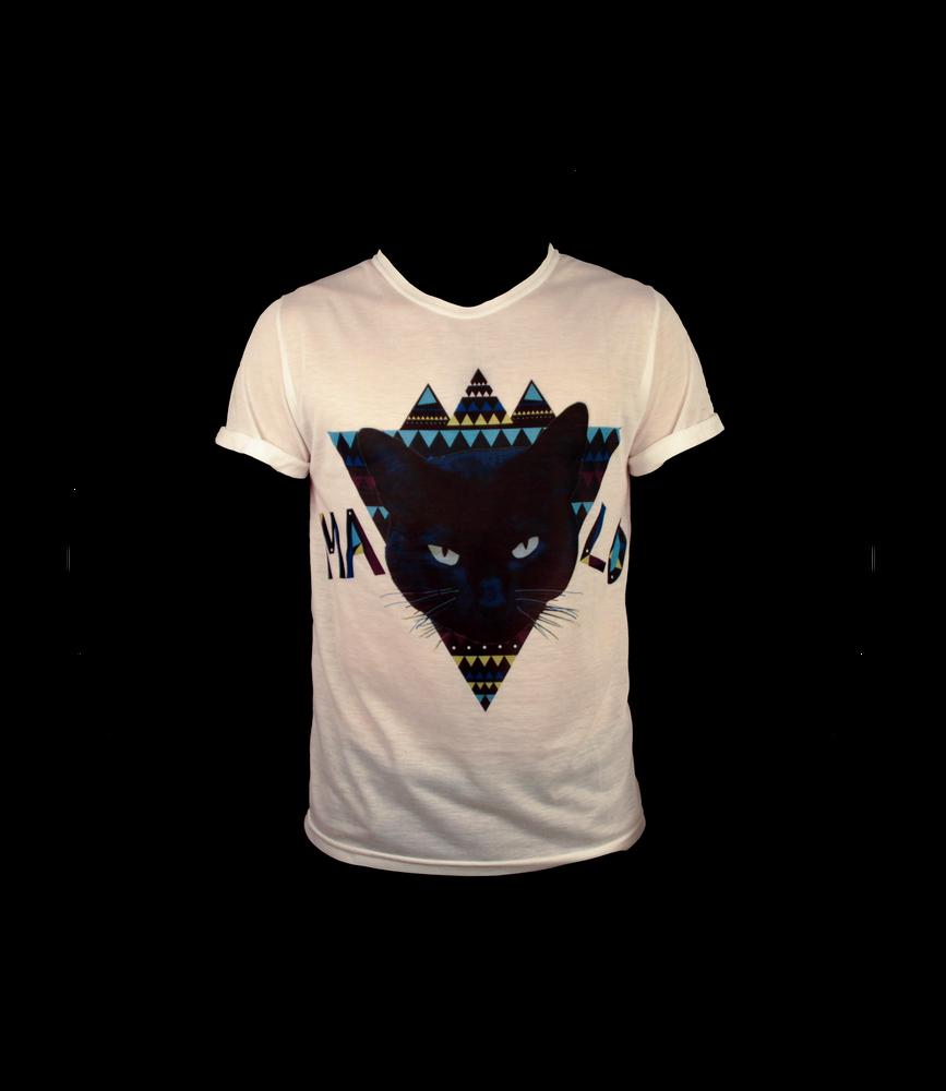 Image of MALO Cat T-shirt