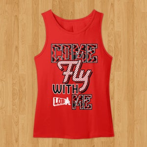 "Image of ""Come Fly With Me"" Tank (Red)"