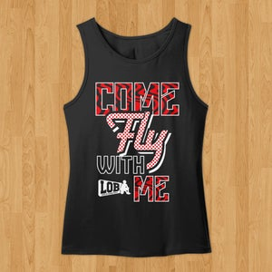 "Image of ""Come Fly With Me"" Tank (Black)"
