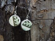 Image of Green Retro Earring