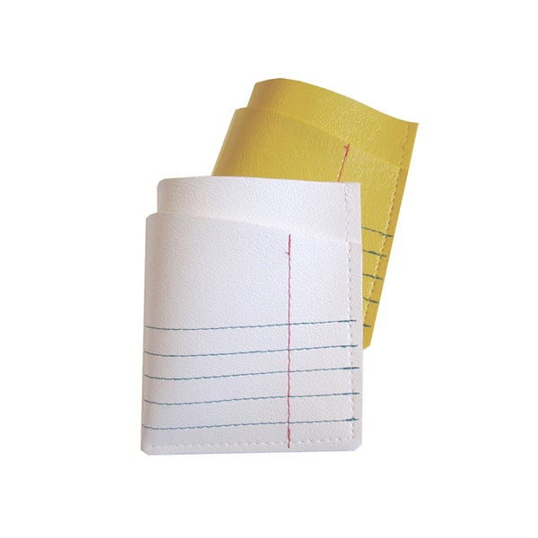 Image of College Paper ) Legal Paper ) Vinyl Mini Card Wallet