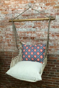 Image of Hammock Swing Chair - Blue/Red Diamonds