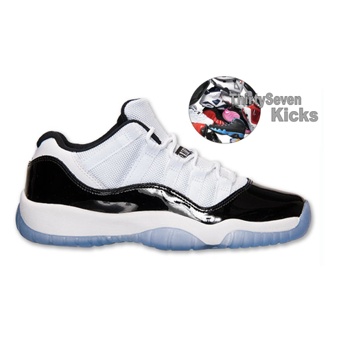 "Image of Jordan Retro 11 Low ""Concord"" Grade School"