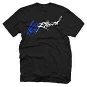 "Image of KY Raised ""Limited Edition Script Tee"" in Black / KY Blue / White"