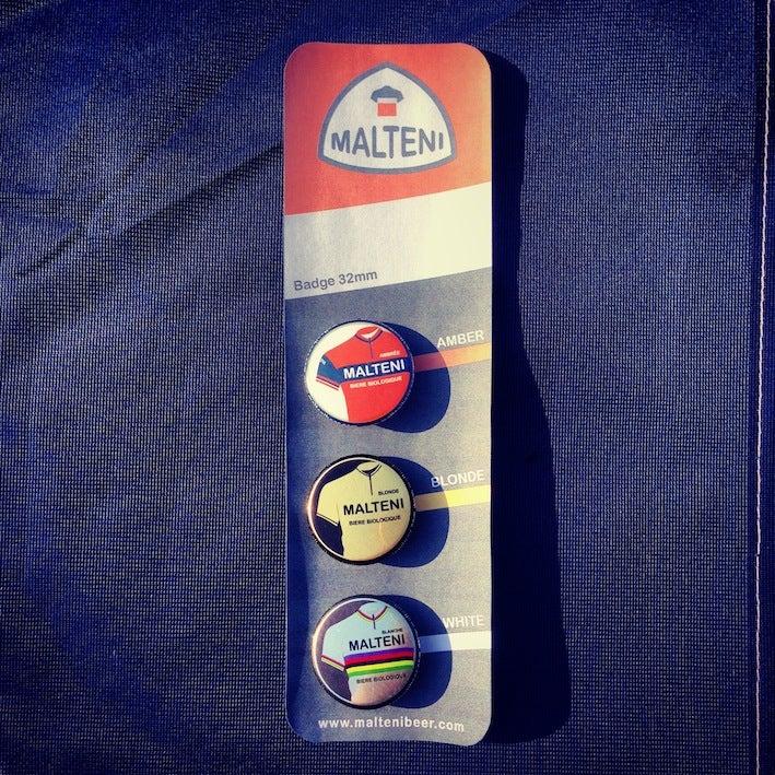 Image of Malteni set of 3 badges