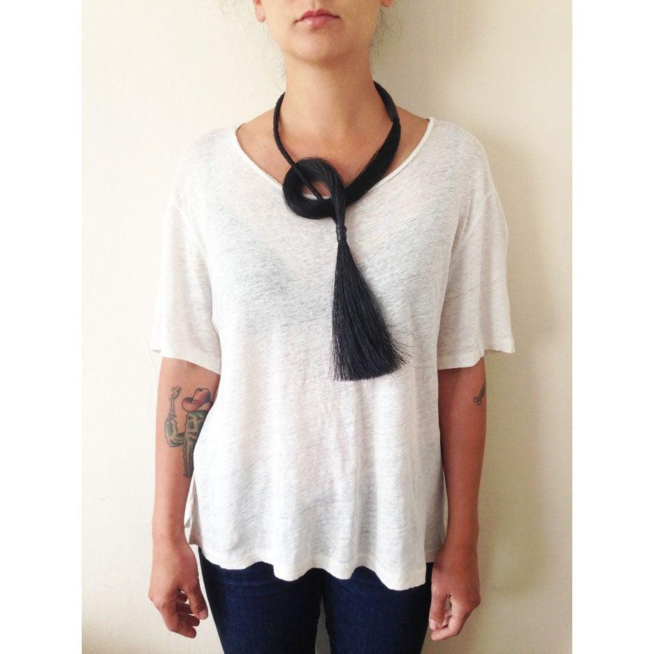 Image of Jet Tassel Necklace
