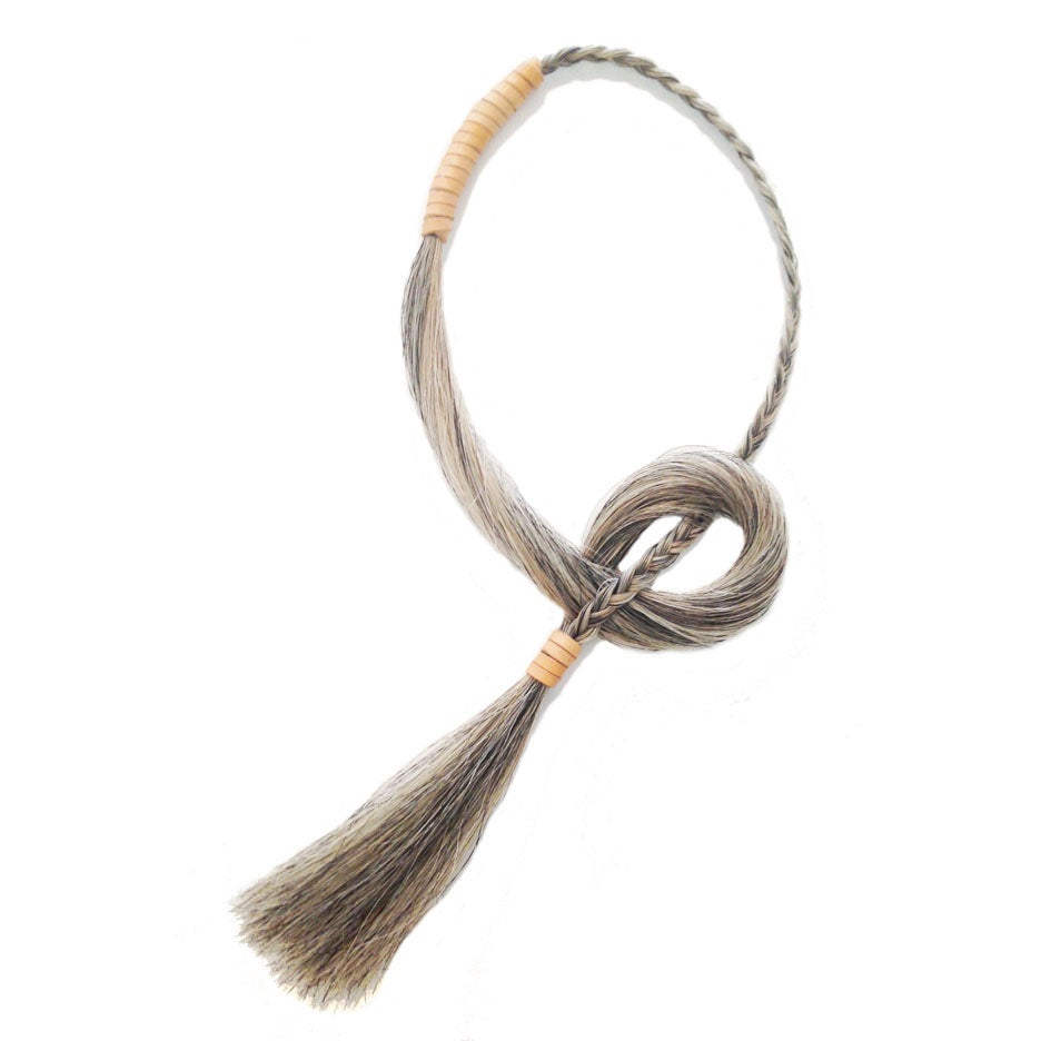 Image of Silver Grey Tassel Nacklace