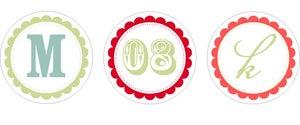 Image of Custom Monogram Tags