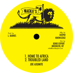 "Image of Joe Axumite - Home to Africa / Troubled Land / Simple Little Woman 10"" (Wackie's)"