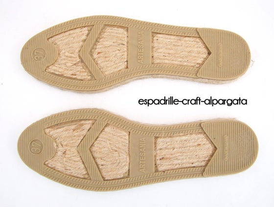 Image of espadrille soles M4 - flat - unisex EU sizes 35 to 44