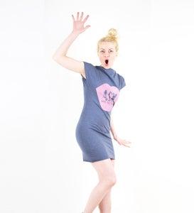 Image of ASK Kleid - blau meliert